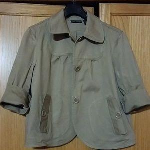 Womens Tan suit Jacket L